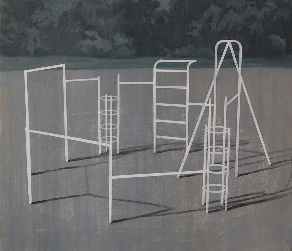 Playground2, Acrylic and oil on canvas, 53×45.5cm, 2015